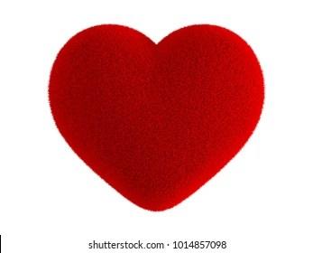 https www shutterstock com image illustration red heart fur isolated on white 1014857098