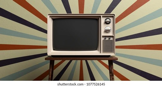https www shutterstock com image illustration retro old tv on table circus 1077526145