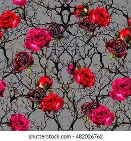 gothic flowers images stock