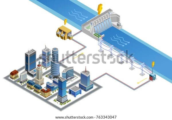 https www shutterstock com image illustration scheme modern city energy supply by 763343047