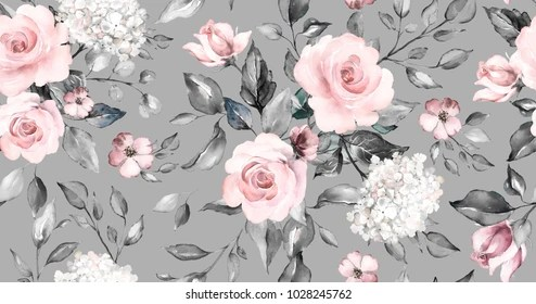 gray flower watercolor images