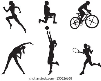 Exercise Silhouette Images, Stock Photos & Vectors