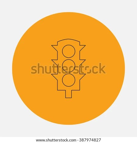 simple traffic light diagram micro usb flat icon stock illustration royalty on orange circle