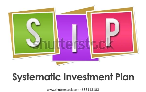 Sip Systematic Investment Plan Colorful Blocks Stock Illustration 686113183