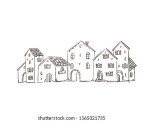 Spanish Houses Sketches Images Stock Photos & Vectors Shutterstock