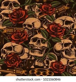 skull and guns images