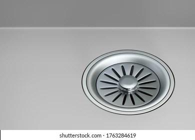 https www shutterstock com image illustration stainless steel sink strainer stopper installed 1763284619