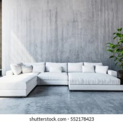 Living Room Modern Sofa Designs Light Grey Wallpaper Images Stock Photos Vectors Shutterstock Stylish White Modular Day Bed With Cushions In A Spacious Tall