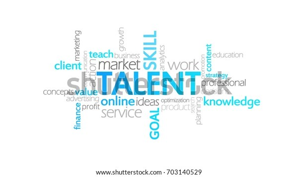 talent typography infographic clipart
