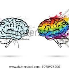Left Side Brain Functions Diagram Evinrude 9 Wiring Technical Art Hemispheres On Human Stock Illustration And In View Right
