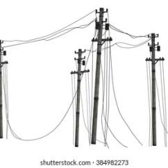 Telephone Pole Diagram Bobcat 743 Parts Images Stock Photos Vectors Shutterstock Poles Isolated