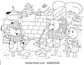 Three Little Pigs Images, Stock Photos & Vectors
