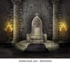 Medieval Castle Throne Room Images Stock Photos & Vectors Shutterstock