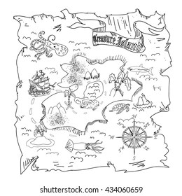 Kids Treasure Map Images, Stock Photos & Vectors