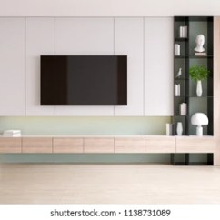 Tv Cabinet For Living Room Wall Shelf Decorating Ideas Images Stock Photos Vectors Shutterstock And Display With On Wood Flooring Pastel Green Minimalist Vintage