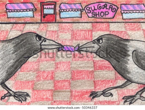 two crows not sharing