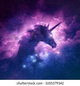 Unicorn Watercolor Galaxy Wallpaper