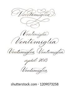Spencerian Script Images, Stock Photos & Vectors