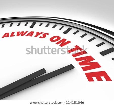 Words Always On Time On Clock Stock Illustration 114181546 - Shutterstock