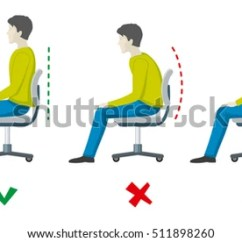Better Posture Office Chair Gaming Best Royalty Free Stock Illustration Of Wrong Right Spine Sitting And Health Flat Infographics Body Incorrect Correct
