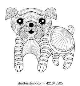 Pug Coloring Book Images Stock Photos Vectors Shutterstock