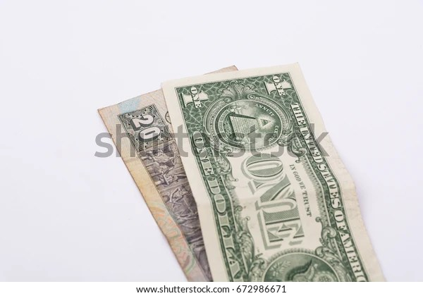1 One Us Dollar 20 Le Business Finance Objects Stock Image