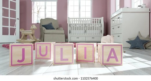 The Name Julia Snmky stock fotografie a vektory