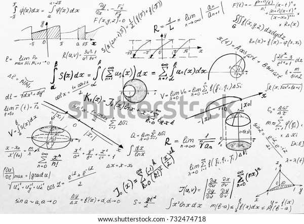Advanced Calculus On Whiteboard Stock Photo (Edit Now