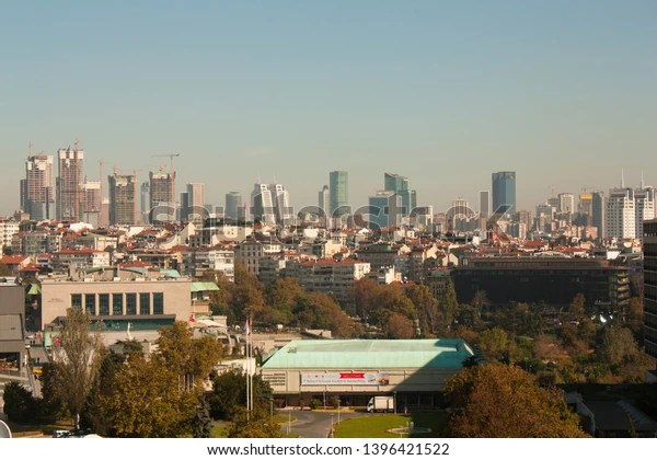 Aerial View Taksim Square Shows Park Royalty Free Stock Image