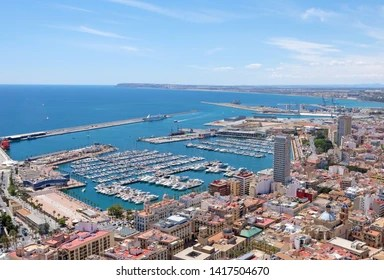alicante harbour images stock