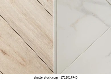 https www shutterstock com image photo aluminium platband laminate tile floor joints 1712019940