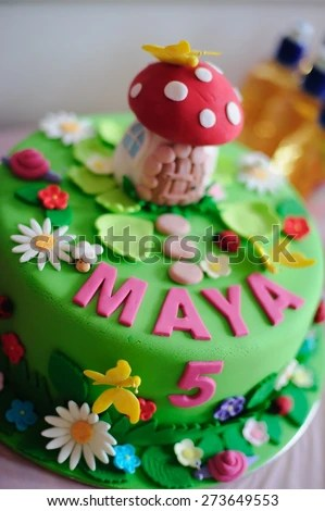 Amazing Birthday Cake Fine Details Fairy Stock Photo Edit Now