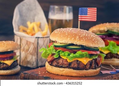 american burger images stock