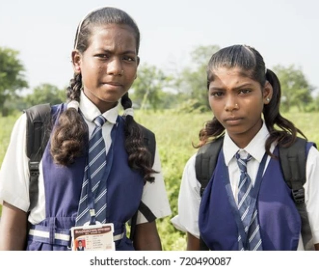 Amravati Maharashtra India  Unidentified Happy Indian Rural School Girl Student