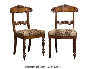 antique wood chair spandex covers in china images stock photos vectors shutterstock biedermeier isolated on white with authentic fabric and carving