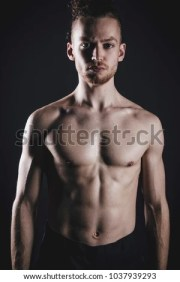 attractive young man long ginger