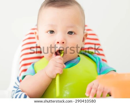 baby eating chair walmart office mat child stock photo edit now 290410580 shutterstock in