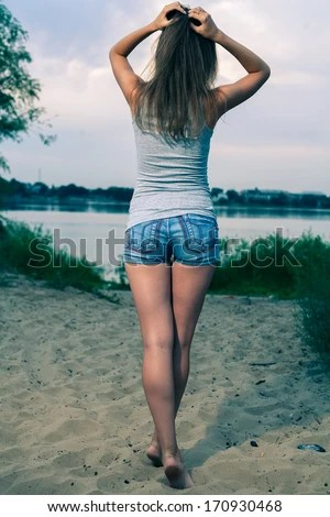 Back View Of Standing Woman Beautiful Girl Backside View Of Person Rear View