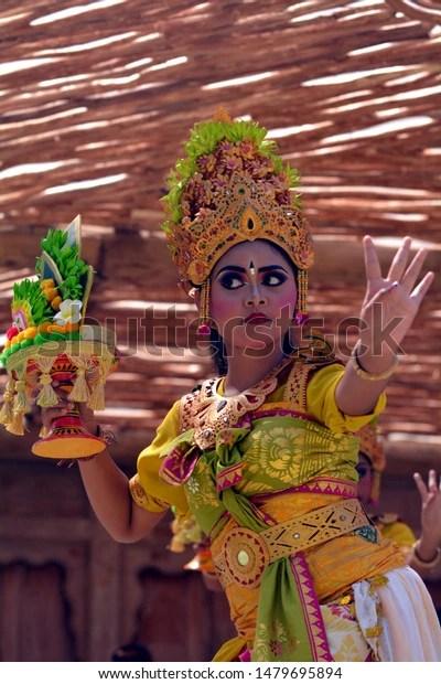 Download Video Tari Bali : download, video, Balinese, Woman, Dancing, Pendet, Dance, Stock, Photo, (Edit, 1479695894