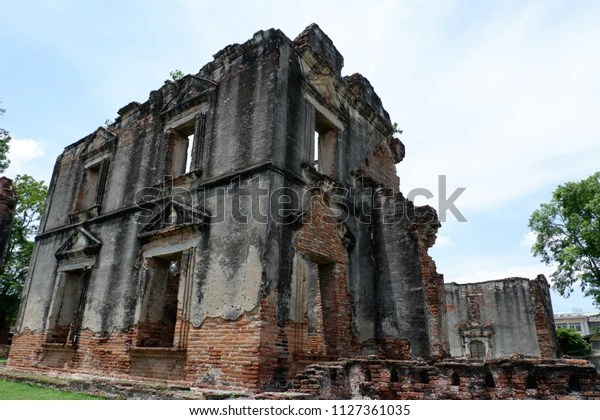 Ban Wichayen House Ancient Residence French Stock Photo