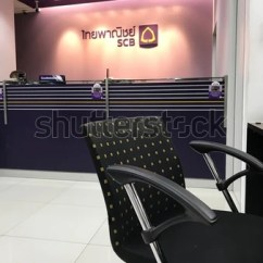 Chair Design Bangkok Aarnio Ball Nov 17 Customer Front Stock Photo Edit Now 757108024 A In Of The Service Counters One