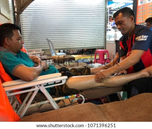 Bangkok Thailand February 08 2018 View Of A Foot Massage Spa