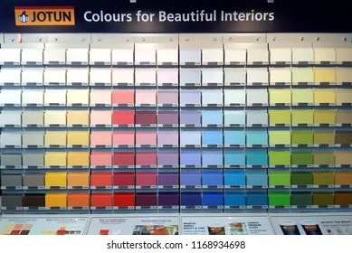 Bangkok Thailand August 30 2018 Jotun Paint Color For Beautiful Interior Colored