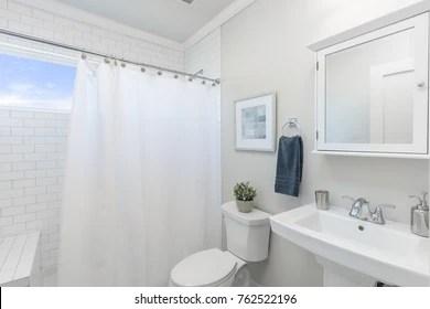 https www shutterstock com image photo bathroom shower curtain 762522196
