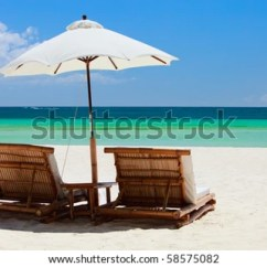 Perfect Beach Chairs Adams Manufacturing Plastic Adirondack On Tropical White Stock Photo Edit Now Sand