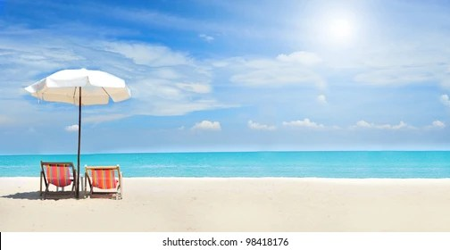 beach chair images stock
