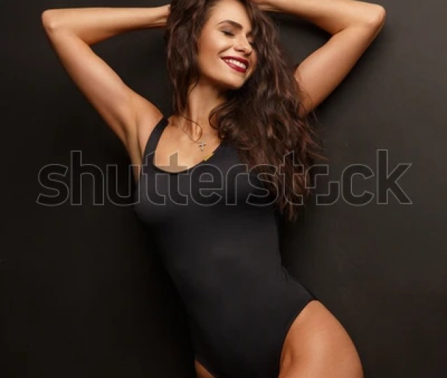 Beautiful Attractive Smiling Girl Thick Wavy Stock Photo Edit Now