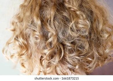 https www shutterstock com image photo beautiful blond wave curly hair closeup 1661873215
