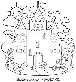 Coloring Page Outline Images, Stock Photos & Vectors