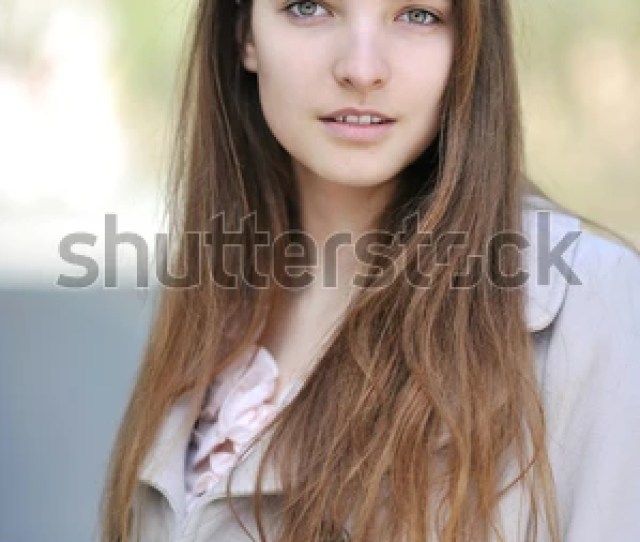 Beautiful Kind Girl Portrait Outdoor Close Up